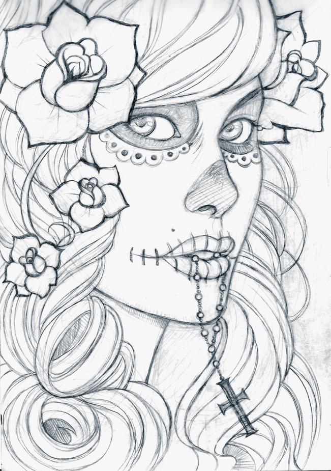 dia de los muertos by boozits on deviantart
