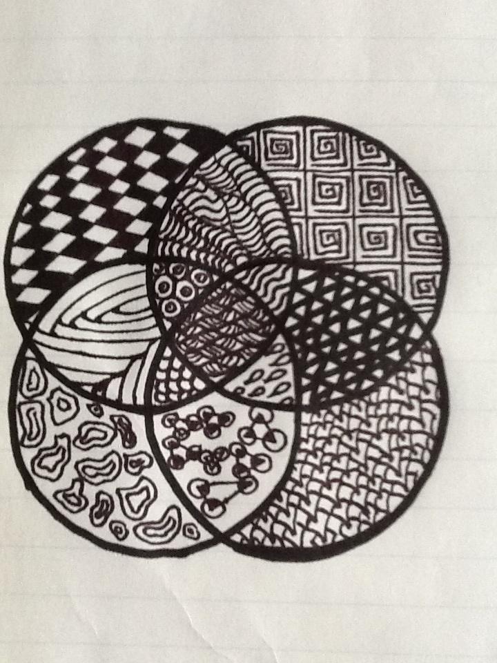 Zentangle-Quadcircle