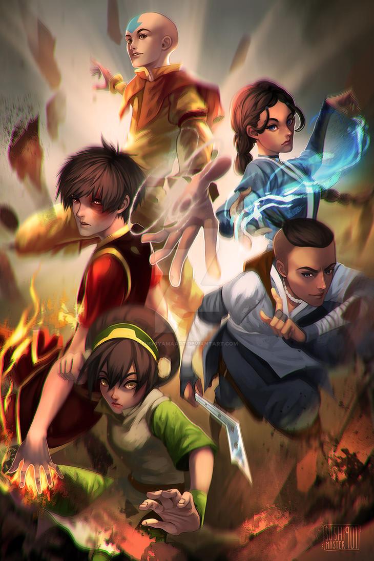 Team Avatar by SushiyamaArt