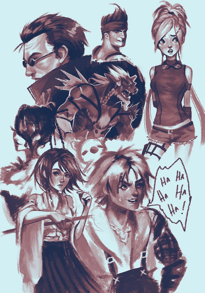 FFX Sketches by SushiyamaArt