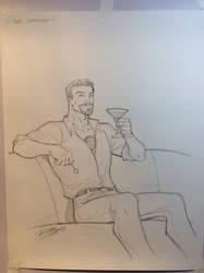 Tony Stark by Ron Lim by Gretchdragon