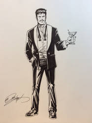 Tony Stark by Bob Layton by Gretchdragon