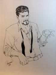 Tony Stark by Carlo Pagulayan by Gretchdragon