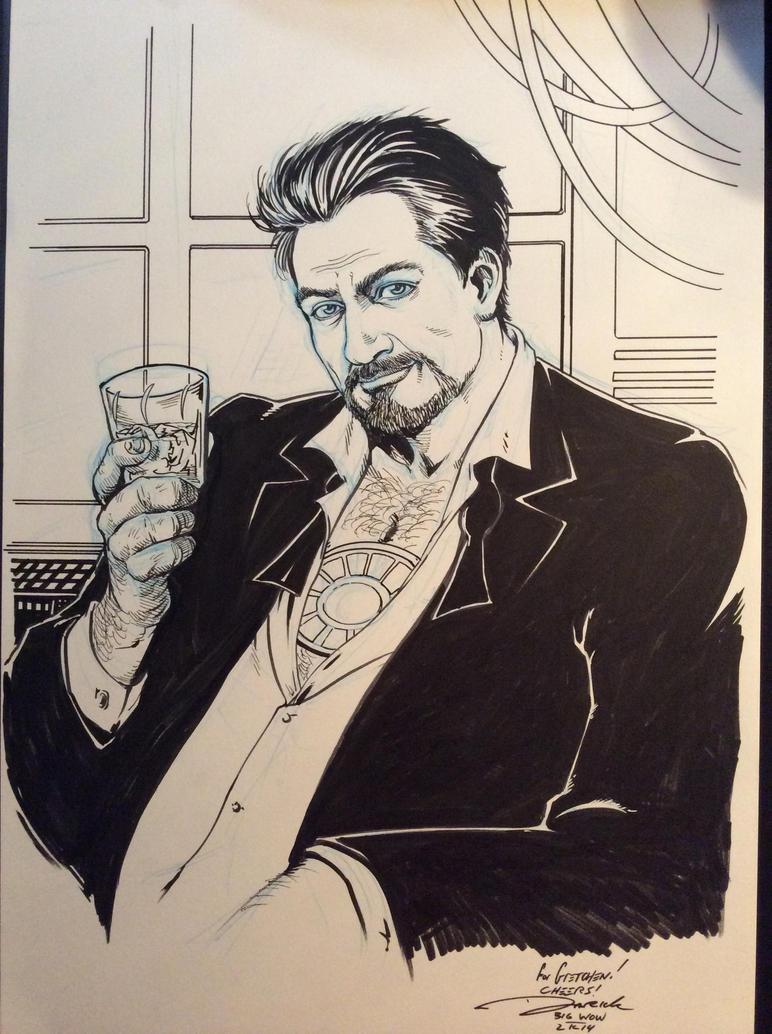 Tony Stark by Darick Robertson by Gretchdragon