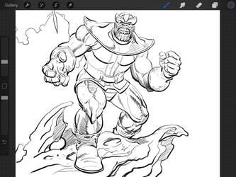 Thanos by Joe Jusko by Gretchdragon