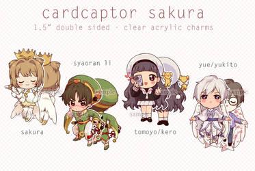 preorders- cardcaptor sakura charms by kaeryi