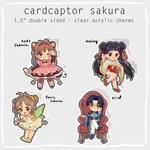 preorder - cardcaptor sakura charms SET 2