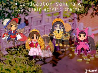 Cardcaptor Sakura charms by kaeryi