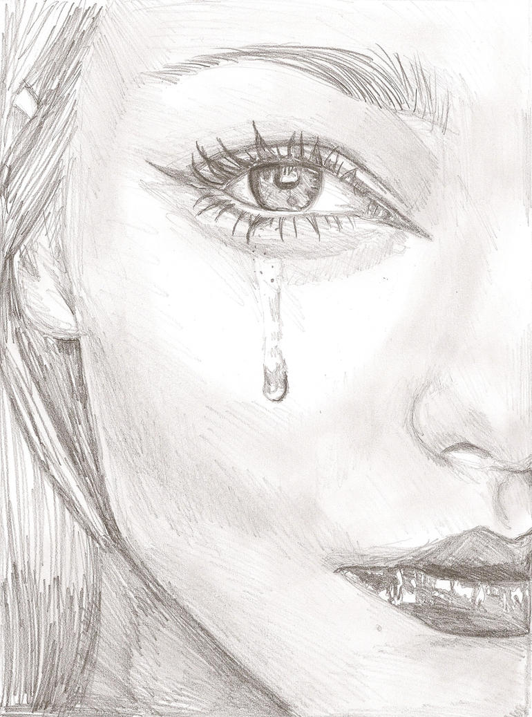 Drawing A Teardrop: Tear Face By E5ther On DeviantArt