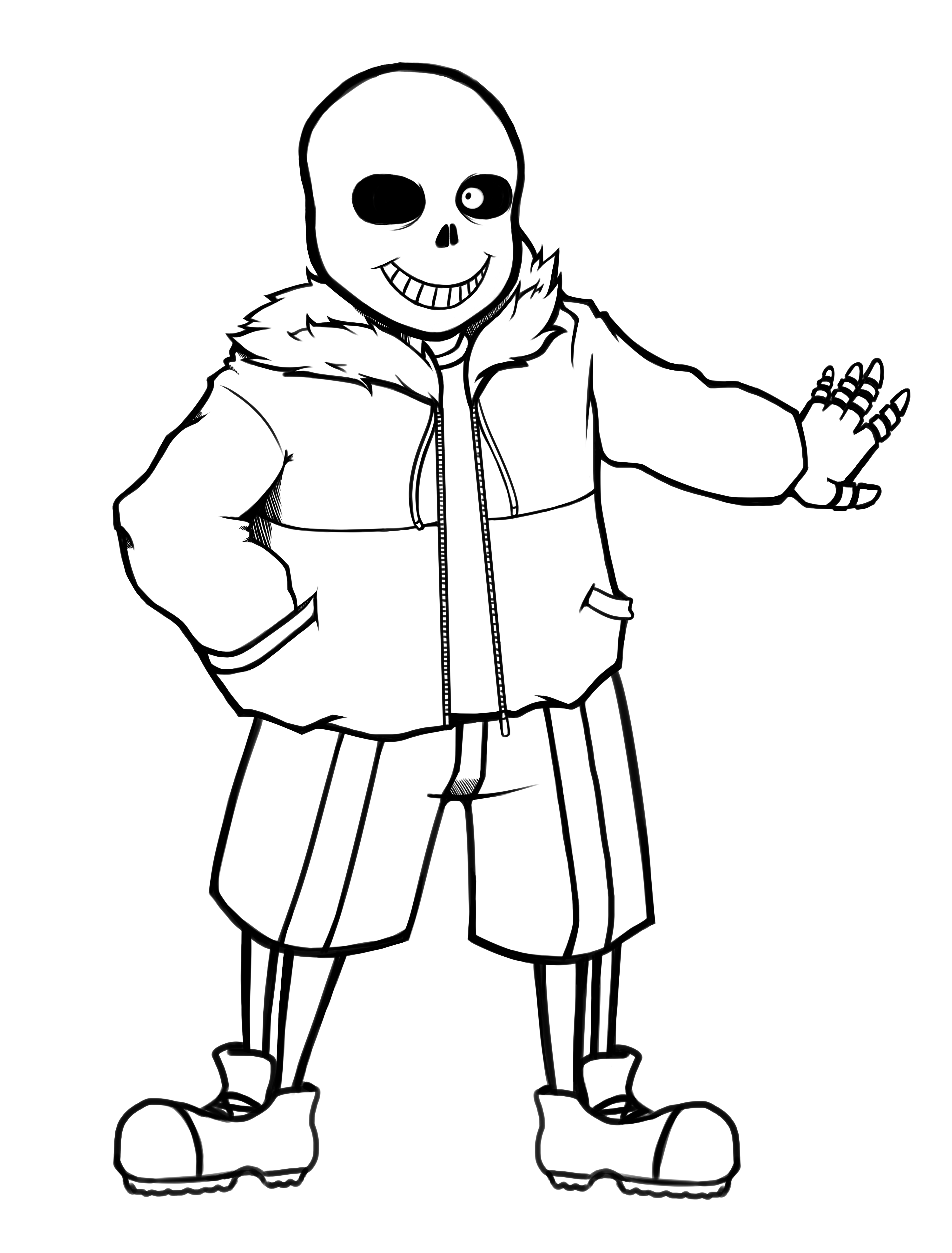 sans coloring page sans the skeleton free coloring pages