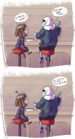 Whisper to Sans to be honest about his feelings ? by Kaweii