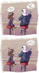 Whisper to Sans to be honest about his feelings ?