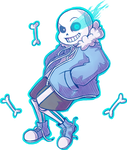 Sans is watching you by Kaweii