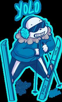 Skiing Sans - YOLO