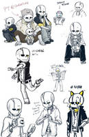 Zunde doodle dump by Kaweii