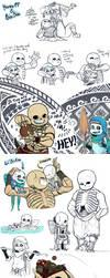Moana x Blesstale 'n Cursetale doodle dump by Kaweii