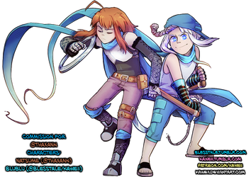 [Commission] Natsume Feat. Blublu by Kaweii