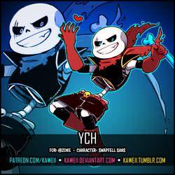 [YCH] SwapFellRed Sans