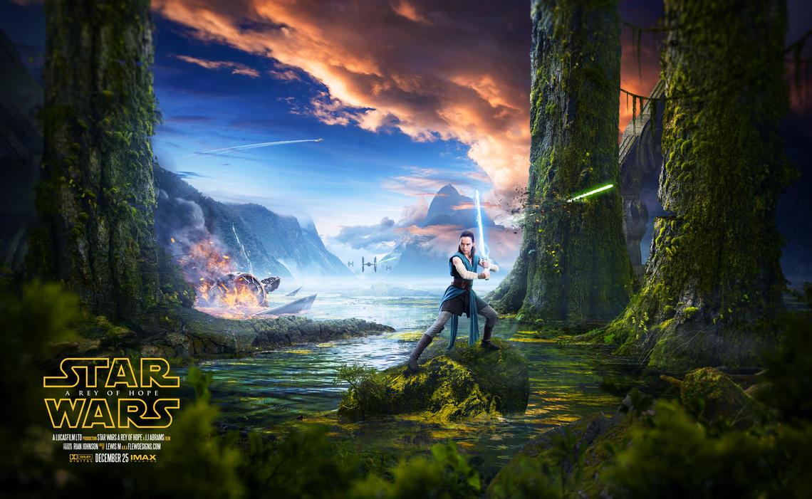Star Wars - A Rey Of Hope V1 by FlewDesigns