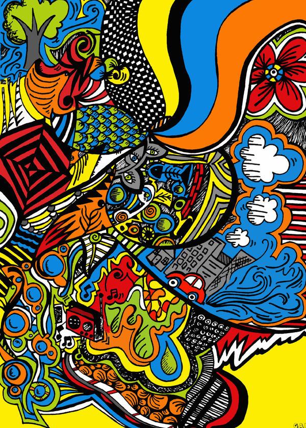High School Art Design A Book Cover