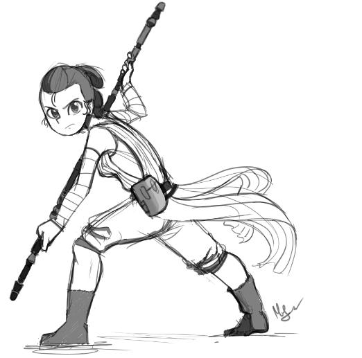 Rey sketch by Pencil-snap