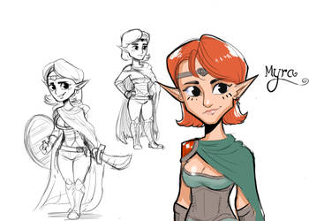 Myra The Halfling Elf
