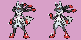 Mega-Lucario Battle Sprites (Shiny) by iiHurricane
