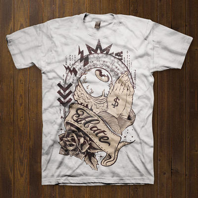 Vector T-shirt Design Template by tshirt-factory