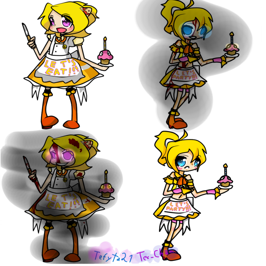 Chica Toy Chica Favourites By Goldenafro On Deviantart: Chica Y Toy Chica By Tefyta21 On DeviantArt