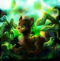 Growlithe by TamberElla