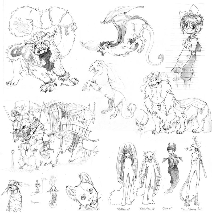 More English Class Sketches by TamberElla