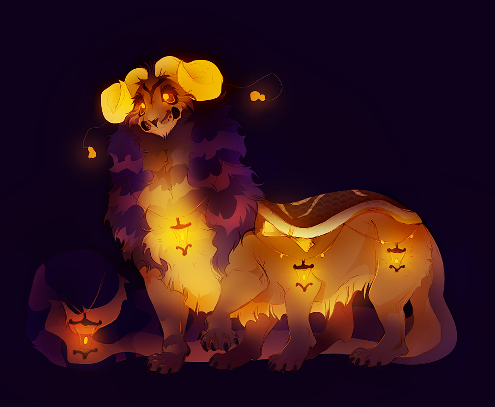 Lantern Liorampillar by TamberElla