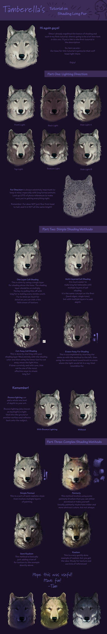 Long Fur Shading Tutorial by TamberElla