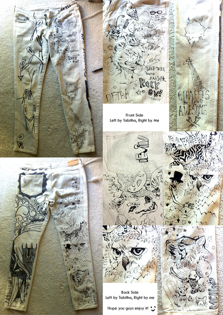 Drawing on Jeans is Fun by TamberElla