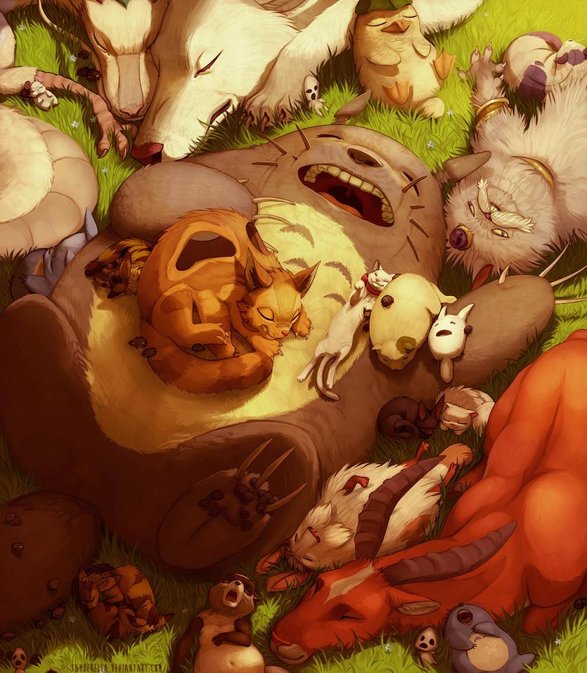 Ghibli Naptime by TamberElla
