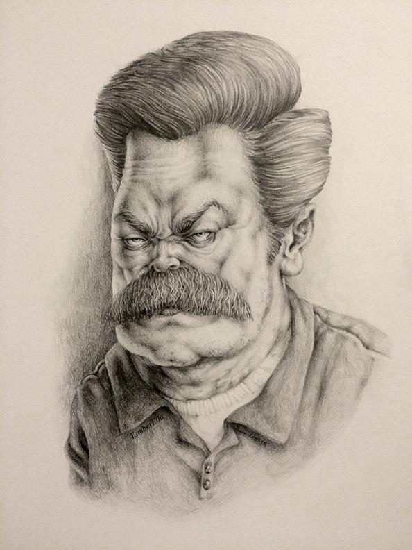 Ron Swanson by TamberElla