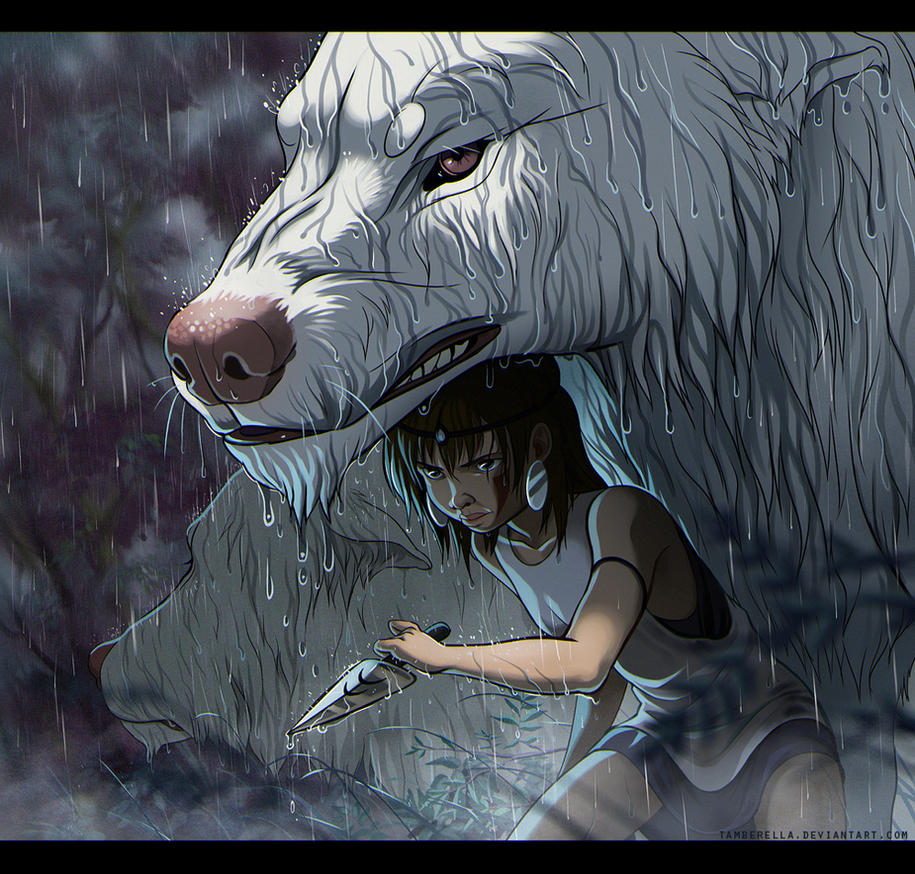 Princess Mononoke In Rain By TamberElla On DeviantArt