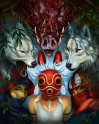 Mononoke Hime by TamberElla