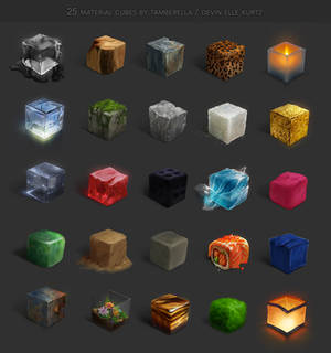 25 Material Cubes