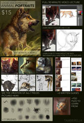 Loose Animal Portraits - Gumroad Tutorial by TamberElla