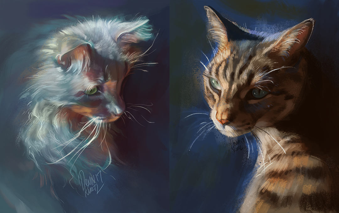 Shinji and Luka Portraits by TamberElla