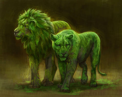 Mossy Lions