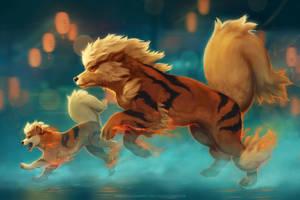 Arcanine Running by TamberElla