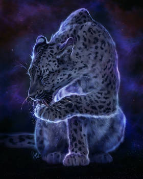 Starry Leopard by TamberElla