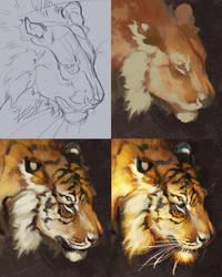 Tiger Steps by TamberElla