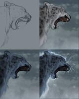 Snow Leopard Steps by TamberElla