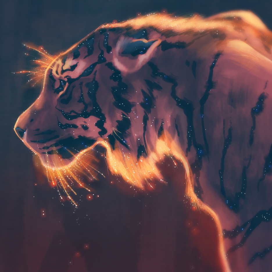 Starry Tiger by TamberElla
