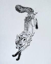 Fox + Inking process video by TamberElla