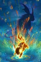 Pikachu by TamberElla