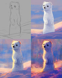 Starry Stoat Process by TamberElla